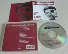 CD ALBUM BEST OF LES PLUS GRANDS SUCCES DE GILBERT BECAUD 15 TITRES 1995