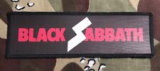 Black Sabbath Logo Large Super Strip Printed Patch B040P Ozzy Dio Rainbow