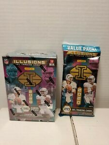 2020 Panini Illusions Football Blaster Box With Value Pack Sealed