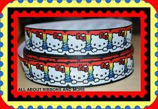 "7/8"" HELLO KITTY RAINBOW GROSGRAIN RIBBON - 1 YARD"