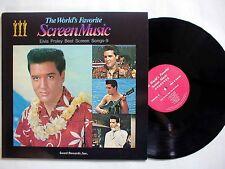 ELVIS PRESLEY -Elvis Best Screen Songs KOREA Only LP