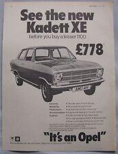 1970 Opel Kadett XE Original advert