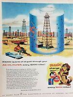 Lot of 3 Vintage 1952 AC Oil Filter Ads 144,000 Quarts