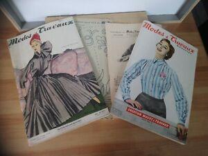 Magazines Mode et travaux création Novembre 1951 no 611 et Février 1956 no 662