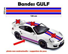 """2 bandes - GULF Racing style Stripe """"universel*"""" Sticker bandes"""