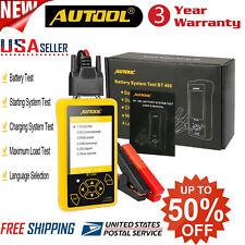 AUTOOL BT-460 Car Battery Tester Charging System Analyzer For 12V 24V Auto USA