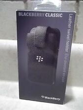 Blackberry Black Leather Swivel Holster Case for Blackberry Classic