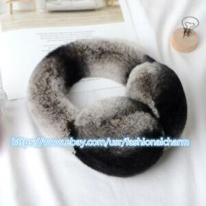 Women Winter Real Rabbit/Rex Fur Earmuffs Earlap Ear Muff Earwarmers Protector