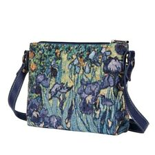 VAN GOGH IRIS CROSS BODY BAG   FLORAL TAPESTRY ART SHOULDER BAG