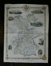 Tallis Map of Germany hand coloured published 1851