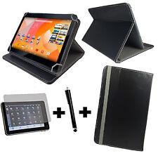 10 Pouces Universal Type livre Tablette Housse de protection+ film Groupes 3in1