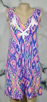 LILLY PULITZER Multicolor Gemma Swing Sleeveless Dress Small French Terry