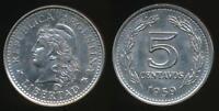 Argentina, Republic, 1959 5 Centavos - Uncirculated