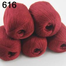 5 Skeins Mongolian Pure Cashmere Wrap Shawls Hand Knitting Wool Yarn 16