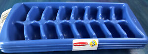 """Set of 3 Rubbermaid Ice Cube Tray Stackable 11"""" x 4.4"""" x 1.3"""" Blue  2879-05"""