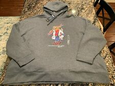 Polo Ralph Lauren Ski Bear Grey Special Edition Fleece Hoodie 4XB Big & Tall