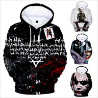 NEW Haha joker 3D Sweatshirt Hoodies Men and women Hip Hop Funny Streetwear Tops