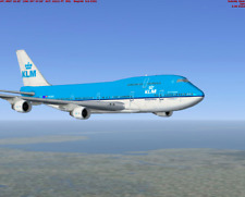 KLM 747 DUTCH LARGE PLANE MODEL  1:150 AIRPLANE APX 45cm SOLID