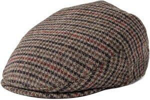 FEINION Men's Wool Tweed Newsboy Ivy Cap Gatsby Golf Flat Hat