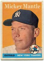 Mickey Mantle 1958 Topps Card #150
