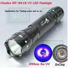 UltraFire WF-501B 5 watts UV Led Flashlight 501B UV 395nm Ultraviolet Lamp Torch