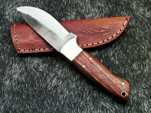 Stunning Handmade HIGH Carbon Real File Steel Fixed Blade Hunting Knife PS-71