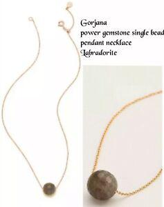 Gorjana power gemstone single bead pendant necklace, Labradorite, NWT $48