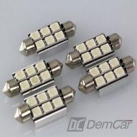 2 X LED Feston Lampe 39 mm 12V 6-FACH SMD Intérieur Signal Couleur Vert