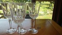 Heavy Crystal Water Goblets by cristal d'arques 4 12 ounce elegant stems