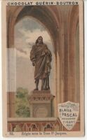 Philosopher Blaise Pascal Statue Paris France c1900 Trade Ad  Card