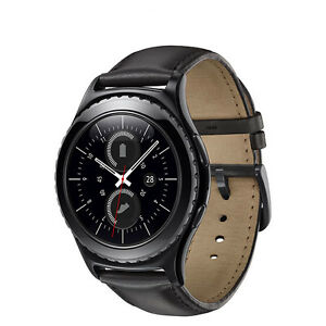 Samsung Gear S2 Classic SmartWatch Black Stainless Steel Leather Strap SM-R732