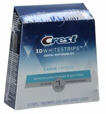 CREST 3D 1 Hour Express White Strips  14 Strips 7 Treatments Exp - 01/2022