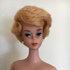 Vintage 1962 Barbie Doll Bubble Cut Platinum Hair Dinner At Eight #946 Complete