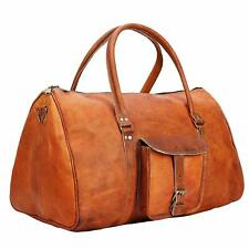Overnight Travel Duffel Gym Weekend Luggage Vintage Bag Genuine modern Leather