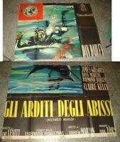 Gli Glühender Der Abgrund Manifesto 4F Original 1958 Dailey Gregory