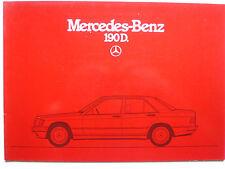 Prospekt Mercedes 190 D, 1.1985, 24 Seiten