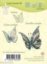 Lecrea Diseño-Transparente se aferran de goma Doodle Sello Mariposa # 2 55.1604