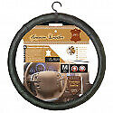 couvre volant 100% cuir noir  nissan note - diamètre volant 37/39cm -