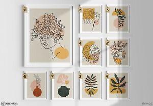 Abstract Art Botanical Print, Abstract Leaf Print, Wall Art Print, Home decor