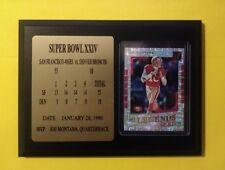 Immaculate Joe Montana SUPER BOWL XXIV Plaque Inc. Awesome Legends Series card