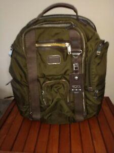 Tumi Large Multi Pocket Olive Backpack