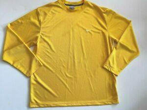 Nike Shirt Men's XL Long Sleeve Yellow Jersey Activewear