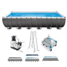 Intex 24ft x 12ft x 52in Ultra Xtr Rectangular Frame Pool & Sand Vacuum Cleaner