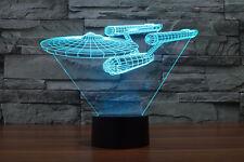 Illusion Night Light Star Trek USS Enterprise NCC 1701 3D Acrylic LED 7color USB
