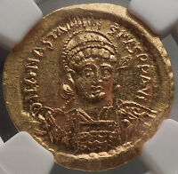 ANASTASIUS I 491AD NGC Certified MS* Ancient Byzantine Solidus GOLD Coin i53476
