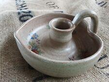 French vintage ceramic  candle holder