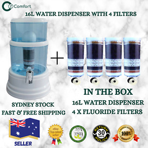 8 Stage Filter Water Dispenser 16L Bench Top Bottle 4 Fluoride Control Filters