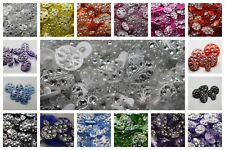 CLEARANCE! LARGE SELECTION OF MIXED DIAMOND CLEAR PLAIN ITALIAN BUTTONS DIAMANTE