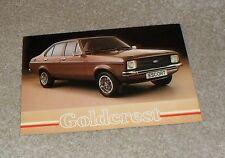 Ford Escort Goldcrest Special Edition Brochure Flyer 1980