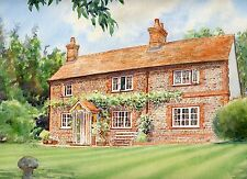 A Watercolour Portrait of Your House by Professional Artist Christopher Cole